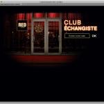 CLUB ÉCHANGISTE, entrez votre code.