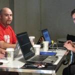 Des gens de PHP Québec et devLAB Montréal sur la même table