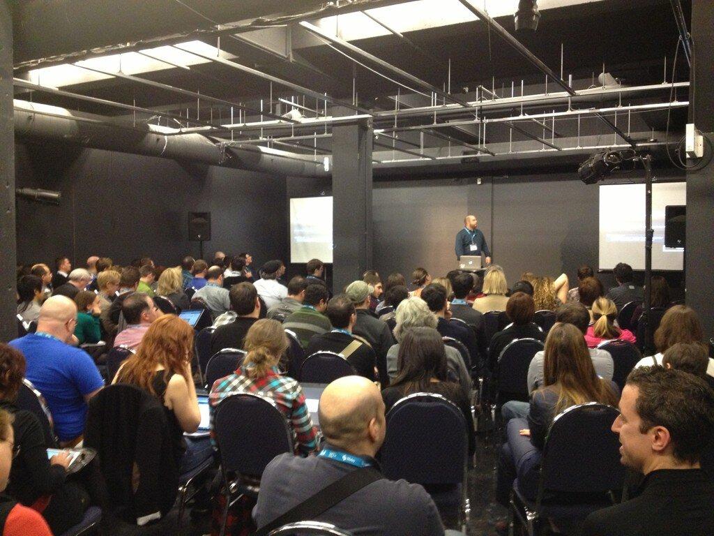 Il y avait foule lors de ma présentation au Web à Québec